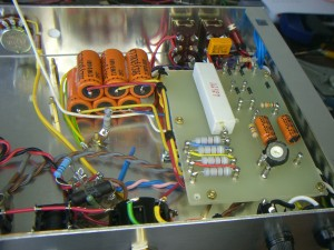 Power supply viewed from the rear of chassis