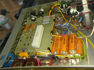 Power supply viewed from the front of the chassis